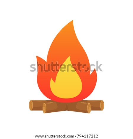 campfire vector isolated...