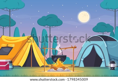 camping composition with two