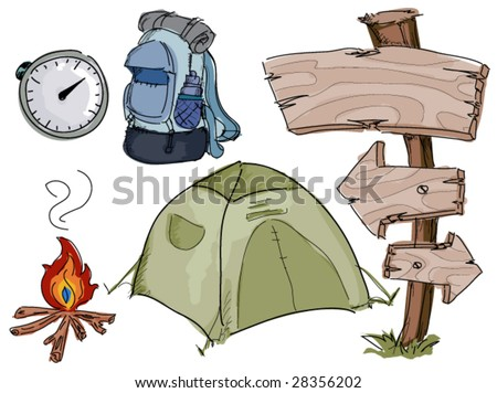 Camping Doodles - Vector