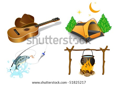 Camping icons 2 - stock vector