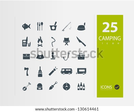 Camping icons ( Set of 25 Quality icons )