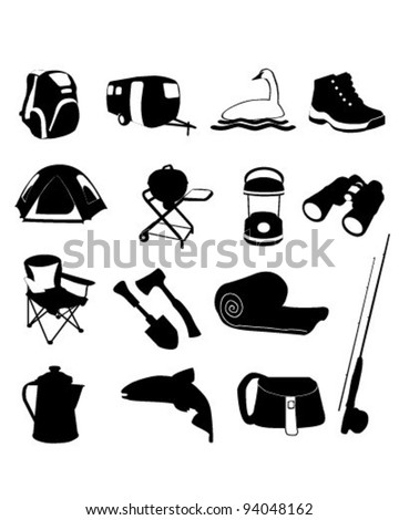 Camping Icons Set     vector is eps10