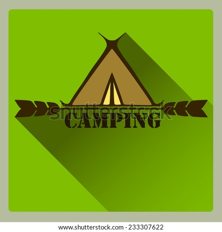 Camping logo badge and label. Vector. For your design.