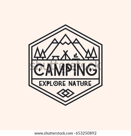 camping logo consisting of...