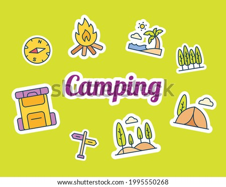 camping sticker stickers with