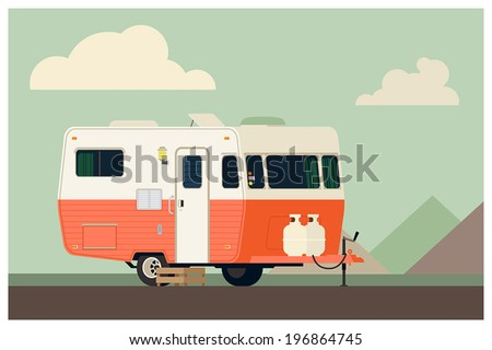 camping trailer on simple