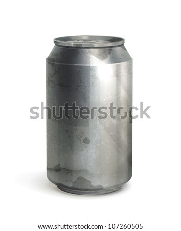 Can, old-style vector isolated