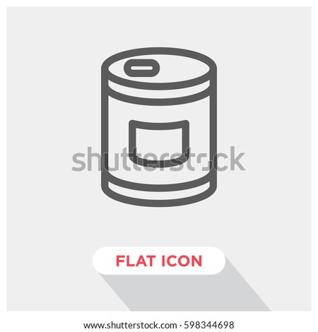 Can vector icon, conserve symbol. Modern, simple flat vector illustration for web site or mobile app