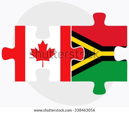 canada and vanuatu flags in