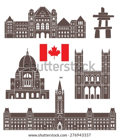 canada buildings logo abstract