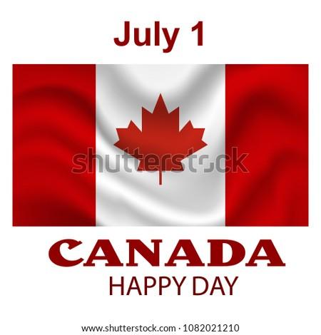 canada flag background happy
