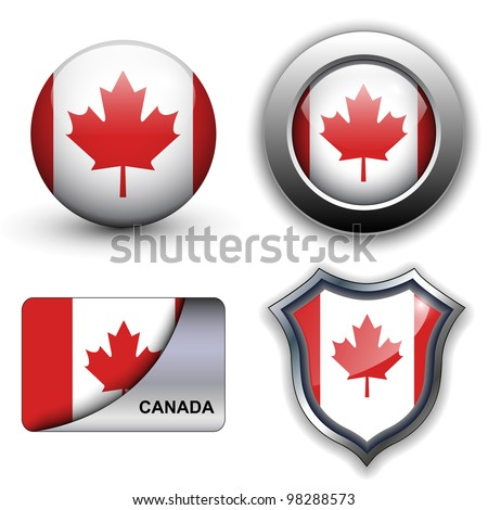 Canada flag icons theme.
