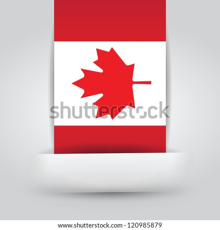 Canada Flag In Paper Slit. File is a EPS 10 and with transparencies.