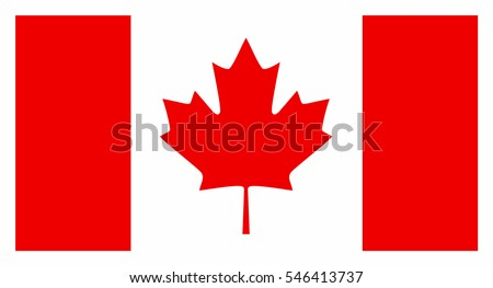 Canada flag vector icon.