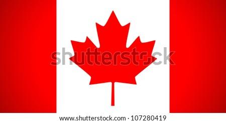 Canada flag. Vector illustration.