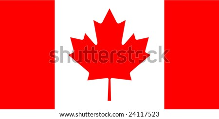 Canada flag with correct dimensions