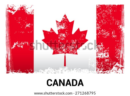 canada grunge flag isolated