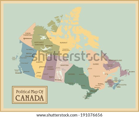 Canada map vector download free vector art stock graphics images canada highly detailed mapl elements are separated in editable layers clearly labeled gumiabroncs Gallery