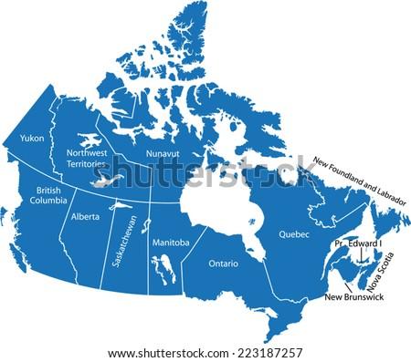 canada map