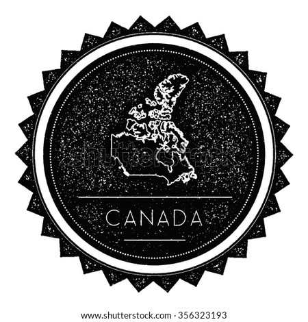 canada map label with retro...