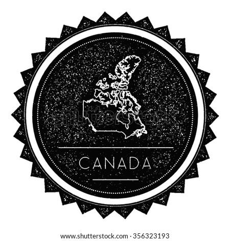 canada map label with retro...