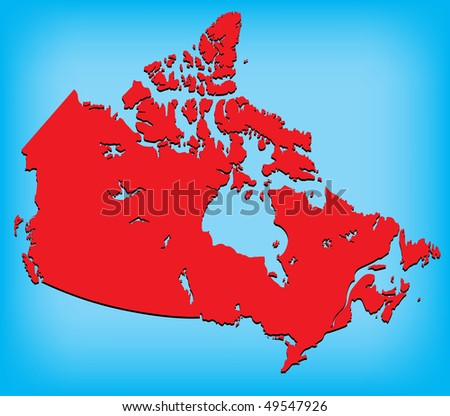 canada map red