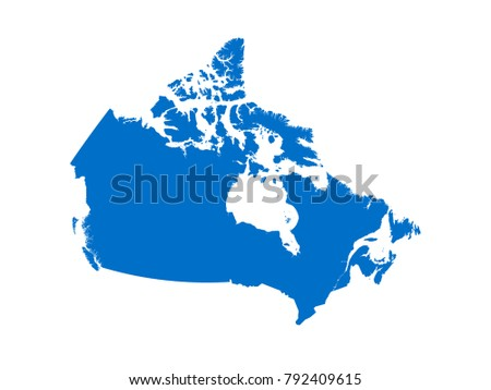 Canada map Sky Blue Tone vector isolated on white background vector EPS 10