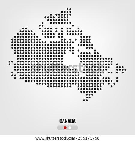 canada map vector halftone dots