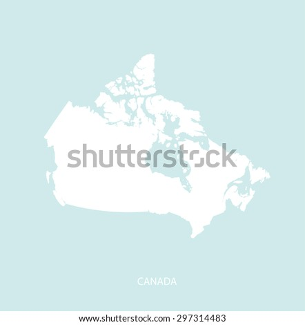 canada map vector in a faded