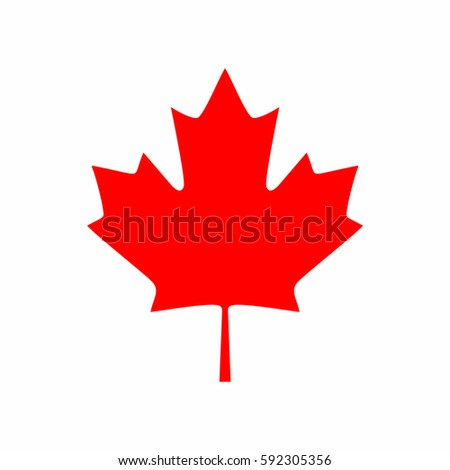 Canada maple leaf icon, vector illustration.