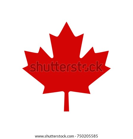 canada maple leaf logo  vector