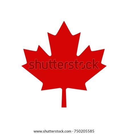 Canada Maple Leaf Logo, Vector illustration