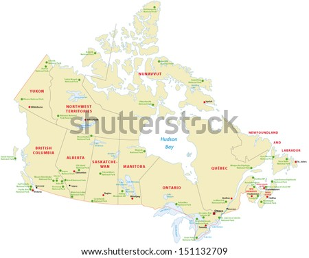 canada national park map