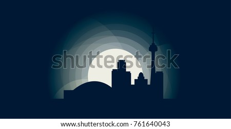 canada toronto blue night moon