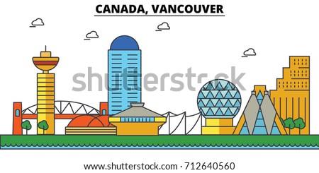 canada  vancouver city skyline
