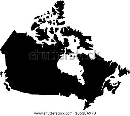 canada vector map