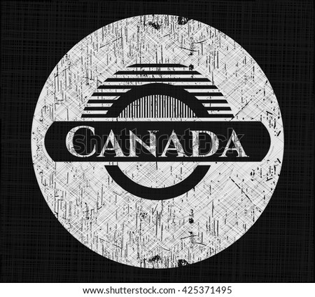 Canada with chalkboard texture