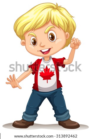 canadian boy standing alone