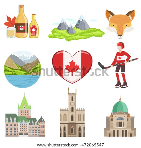 canadian culture symbols set
