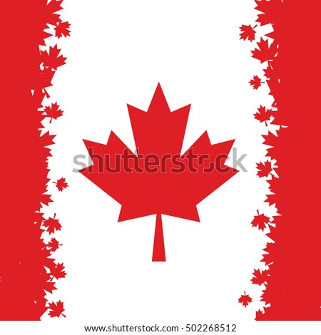 canadian flag made maple leaves ...