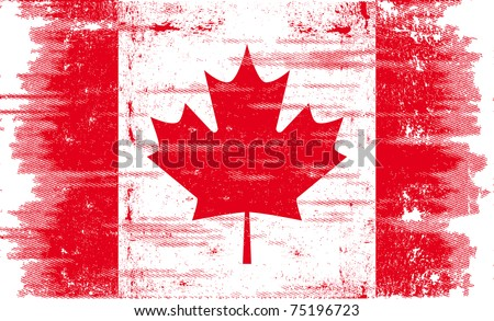 canadian grunge flag a