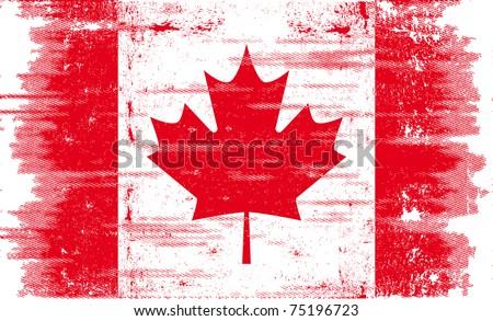 canadian grunge flag a