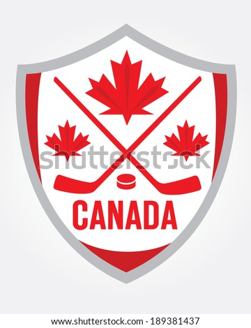 canadian hockey badge   vector