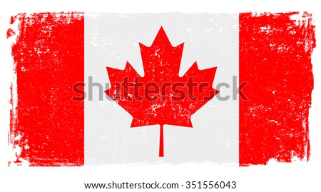 canadian vector flag isolated