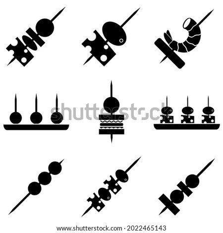Canape icon, appetizer logo isolated on a white background Photo stock ©