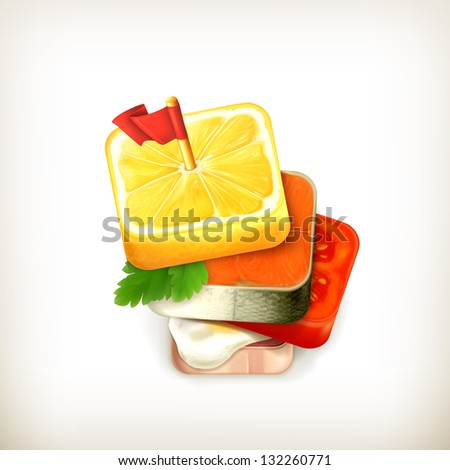 Square fishes free vector 4vector for Canape vector download
