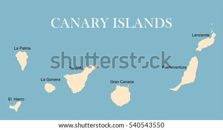 canary islands vector map
