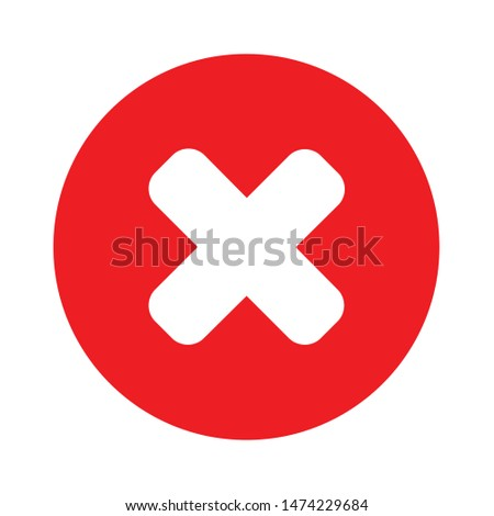 cancel icon. flat illustration of cancel vector icon. cancel sign symbol Foto stock ©
