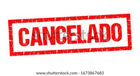 Canceledo, canceled stamp vector on white background Foto stock ©