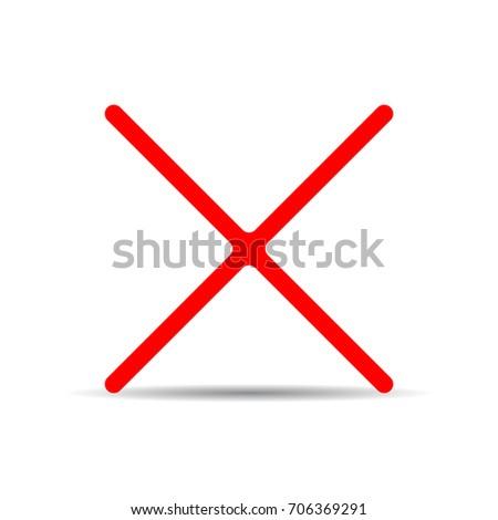 Cancellation Cross Icon.